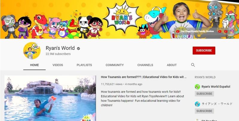Cậu bé 8 tuổi có thu nhập 'khủng' nhất năm 2019 từ YouTube - ảnh 1