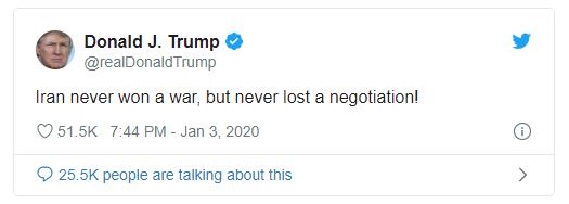 Ông Trump lần đầu lên tiếng sau vụ không kích diệt tướng Iran - ảnh 1