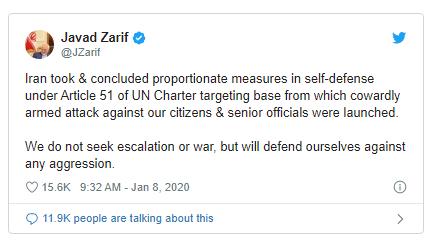 Iran nói nã tên lửa căn cứ Mỹ là tự vệ theo Hiến chương LHQ - ảnh 1