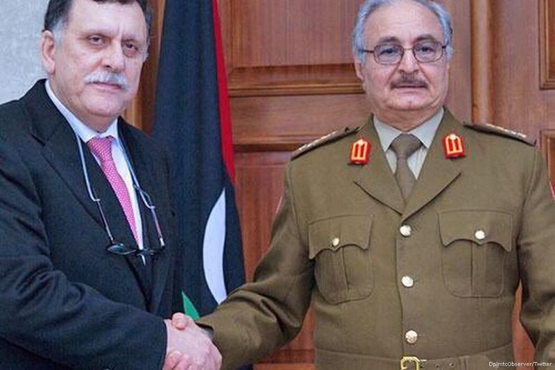 Tướng Haftar, Thủ tướng Sarraf sang Nga dàn xếp xung đột Libya - ảnh 1
