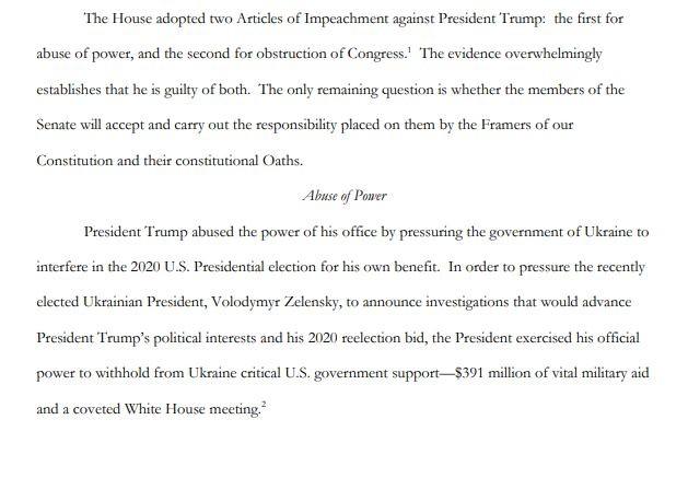 Đảng Dân chủ công bố tài liệu luận tội ông Trump dài 111 trang - ảnh 1