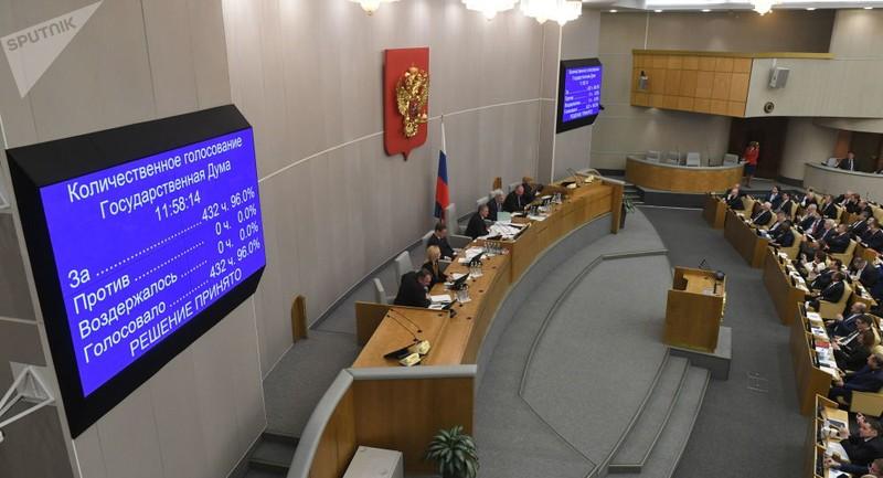 Hạ viện Nga thông qua đề xuất sửa Hiến pháp của ông Putin - ảnh 1