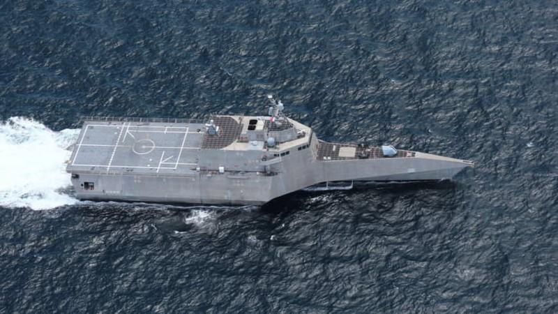 Mỹ điều tàu chiến đầu tiên vào biển Đông năm 2020 - ảnh 1
