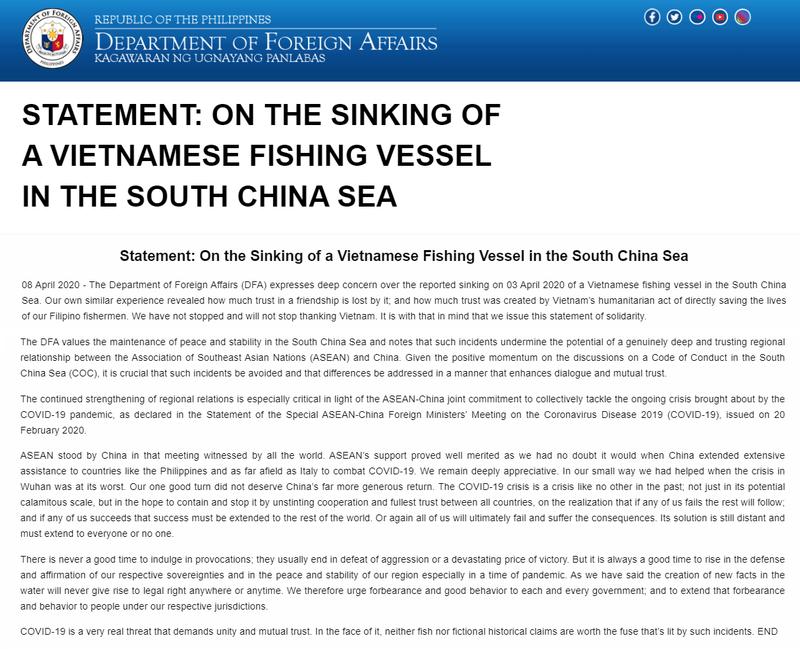 Thêm một quốc gia phản đối Trung Quốc đâm tàu cá Việt Nam  - ảnh 1