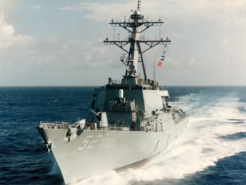 Tàu chiến Mỹ đi qua eo biển Đài Loan lần thứ hai trong tháng 4 - ảnh 1