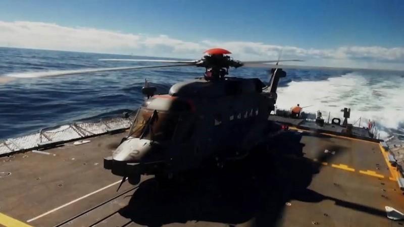 Một trực thăng NATO gặp nạn khi diễn tập ngoài khơi Hy Lạp - ảnh 1