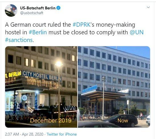 Đức đóng cửa vĩnh viễn khách sạn được cho là của Triều Tiên - ảnh 2