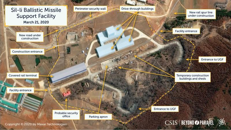 Lộ hình ảnh căn cứ tên lửa bí mật mới của Triều Tiên - ảnh 1