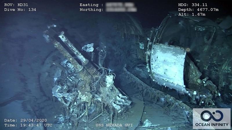 Ảnh: Xác tàu Mỹ chìm gần Trân Châu Cảng thời Thế chiến I - ảnh 1