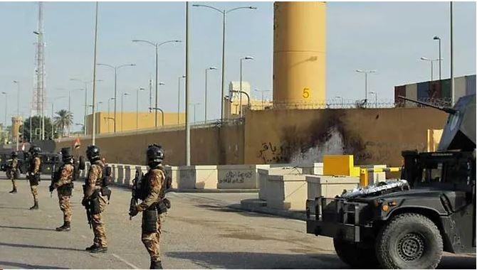 Rocket rơi gần Đại sứ quán Mỹ ở Baghdad - ảnh 1