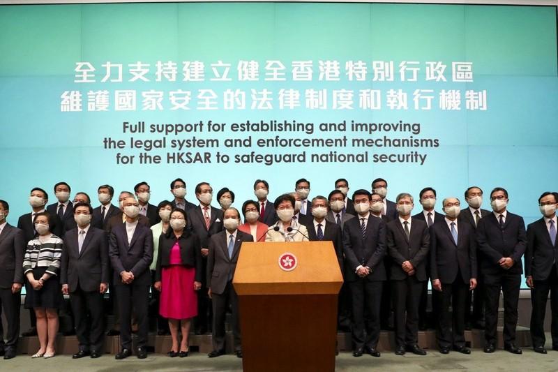 Luật an ninh Hong Kong: Bà Lâm ủng hộ, phương Tây quan ngại - ảnh 1