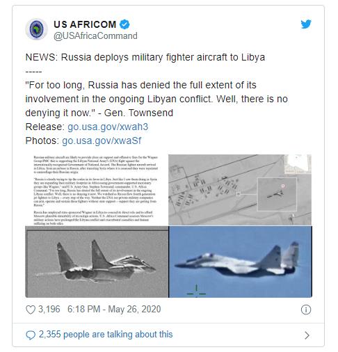 Moscow bác cáo buộc 'máy bay đánh thuê' Nga ném bom Libya  - ảnh 1