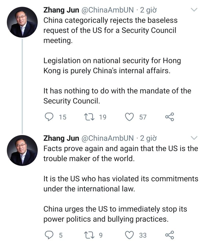Mỹ muốn họp HĐBA về luật an ninh Hong Kong, Trung Quốc từ chối - ảnh 2
