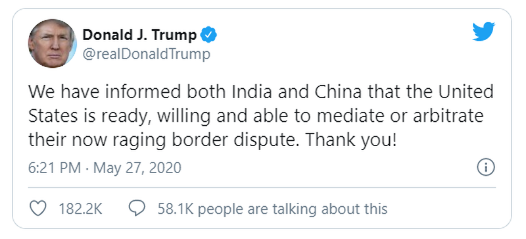 Ấn Độ nói không cần Mỹ làm trung gian hòa giải với Trung Quốc - ảnh 1