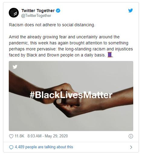 Giữa sóng biểu tình ở Mỹ, Twitter chuyển logo sang màu đen - ảnh 1