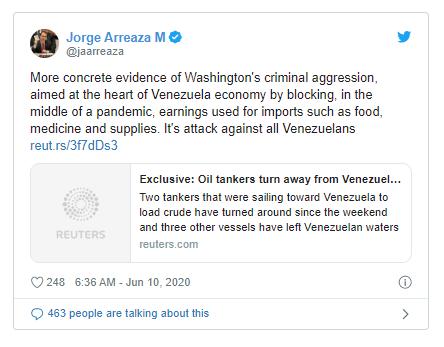 Venezuela: Mỹ ngăn cản tàu chở dầu là hành động 'xâm lược' - ảnh 1