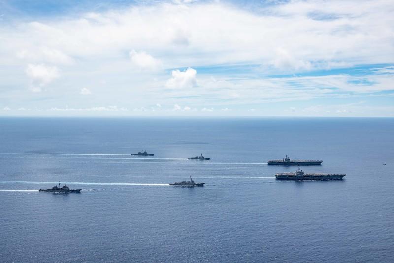 Tàu sân bay Mỹ tiếp tục tập trận tại biển Đông - ảnh 1