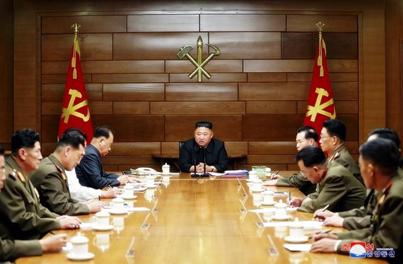 Ông Kim Jong-un chủ trì cuộc họp về 'răn đe chiến tranh'  - ảnh 1
