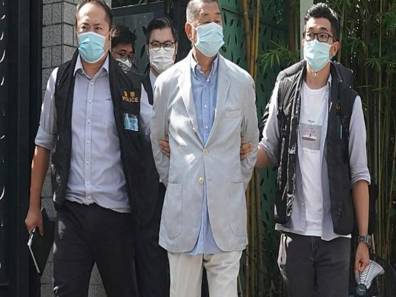 Nghi vi phạm luật an ninh, trùm truyền thông Hong Kong bị bắt - ảnh 1
