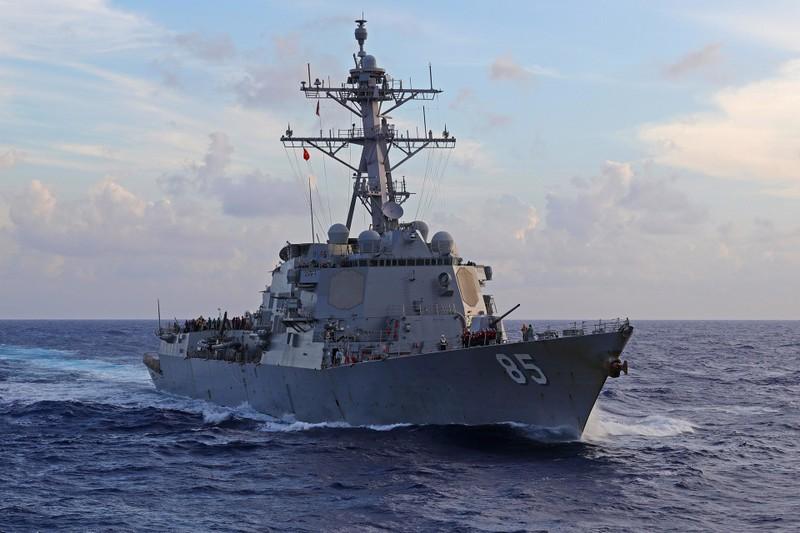 Tàu chiến Mỹ lại đi qua eo biển Đài Loan - ảnh 1