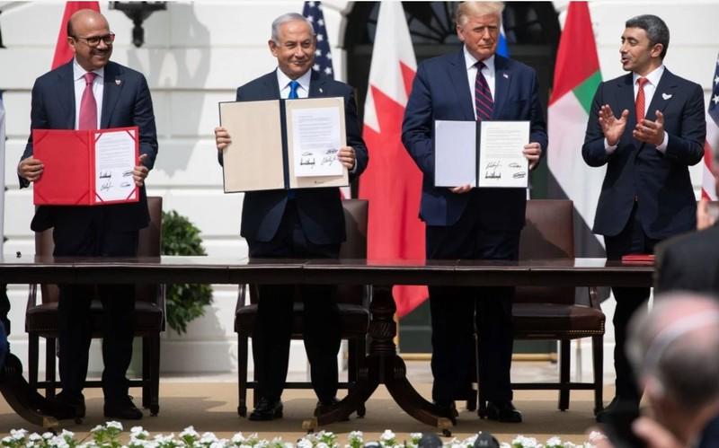 Israel ký hiệp ước Abraham với Bahrain, UAE tại Nhà Trắng - ảnh 1