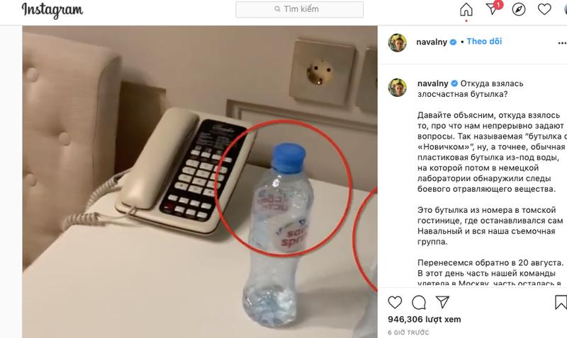 Tìm thấy chai nước có độc tại nơi ông Navalny từng ở  - ảnh 2