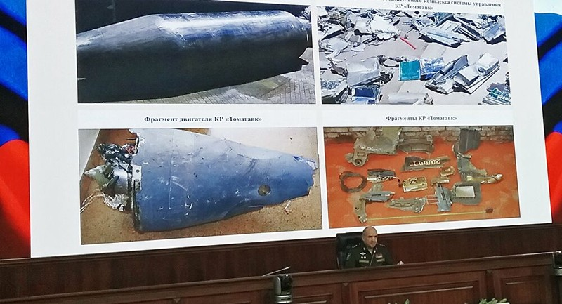 Nga thu hàng chục tên lửa hành trình Tomahawk của Mỹ ở Syria  - ảnh 1