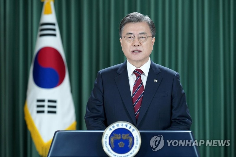 Họp ĐHĐ LHQ: Ông Moon kêu gọi chấm dứt chiến tranh Triều Tiên  - ảnh 1