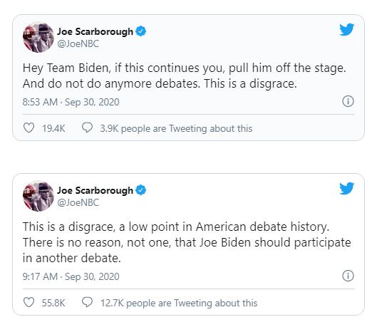 Cử tri Mỹ khuyên ông Biden hủy 2 buổi tranh luận còn lại - ảnh 1