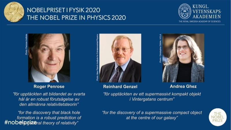 Nobel Vật lý 2020 vinh danh khám phá về 'lỗ đen vũ trụ' - ảnh 1