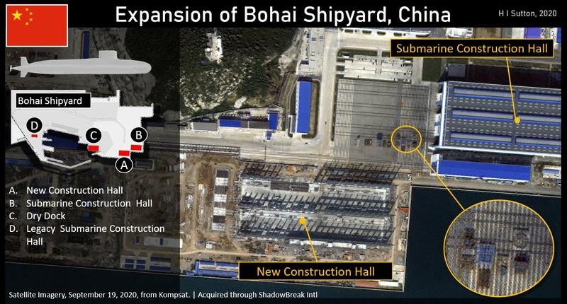 Bắc Kinh mở rộng xưởng tàu Bột Hải, tăng cường đóng tàu ngầm  - ảnh 1