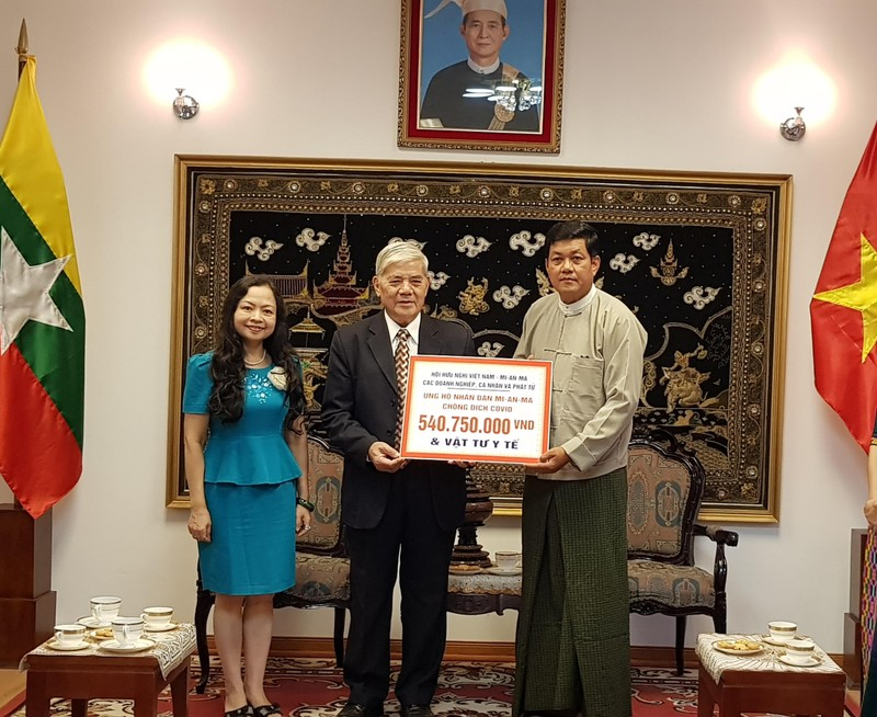 Hội hữu nghị Việt Nam - Myanmar hỗ trợ nước bạn chống COVID-19 - ảnh 1