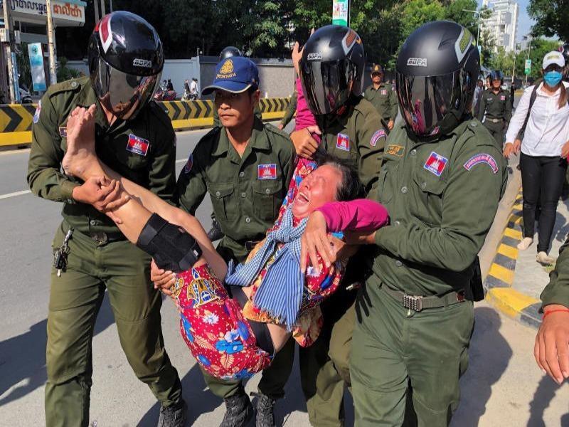 Campuchia: Biểu tình vì lo 'Trung Quốc tăng hiện diện quân sự' - ảnh 1