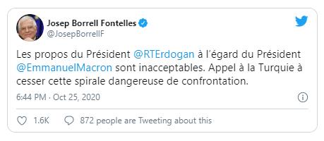 EU chỉ trích tuyên bố của ông Erdogan về Tổng thống Pháp - ảnh 1