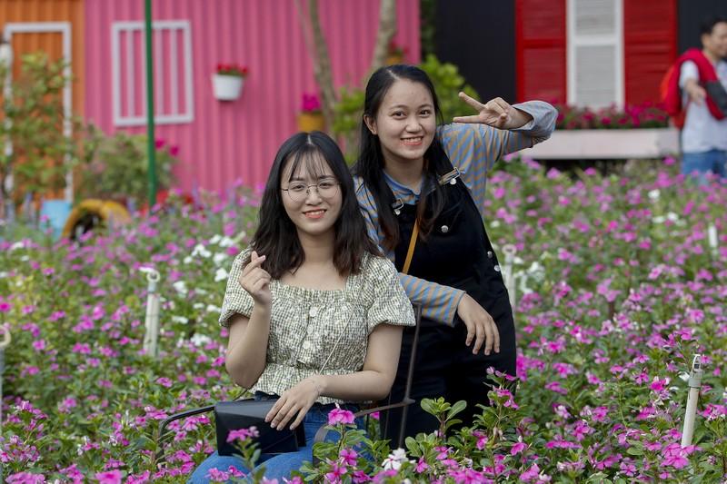 Đẹp ngỡ ngàng Cánh đồng hoa bên sông Sài Gòn - ảnh 9