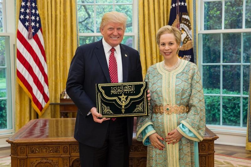 Ông Trump nhận huân chương cao quý nhất của Morocco - ảnh 1