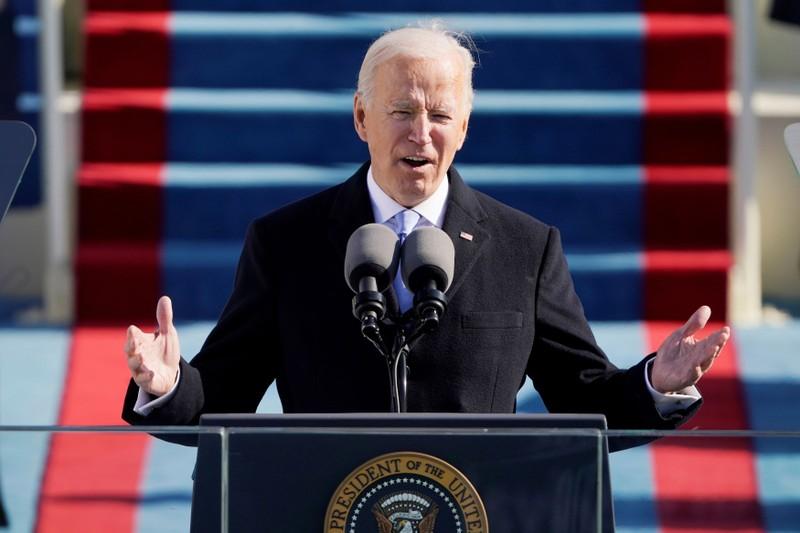 Bài phát biểu nhậm chức ấn tượng của ông Biden - ảnh 1