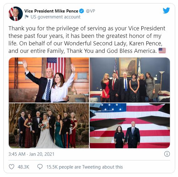 Ông Pence sẽ không tham dự lễ chia tay Tổng thống Trump - ảnh 2