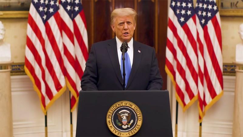 Ông Trump chuẩn bị rời Nhà Trắng, gửi lời chúc chính quyền mới - ảnh 1