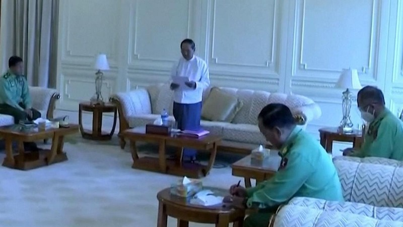 Quân đội Myanmar công bố 11 quan chức cấp bộ mới - ảnh 1