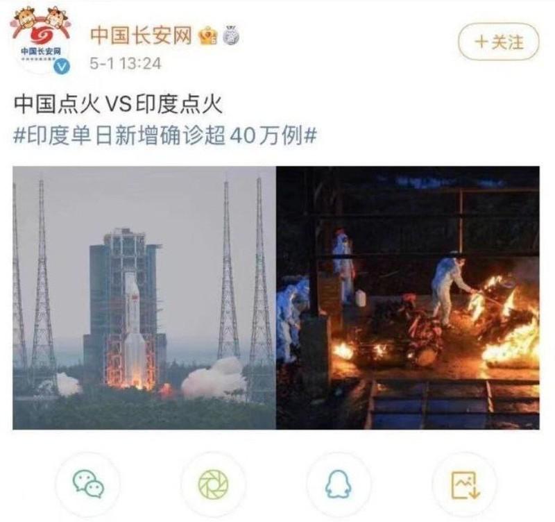 Trung Quốc xóa bài châm biếm thảm kịch COVID-19 ở Ấn Độ - ảnh 1