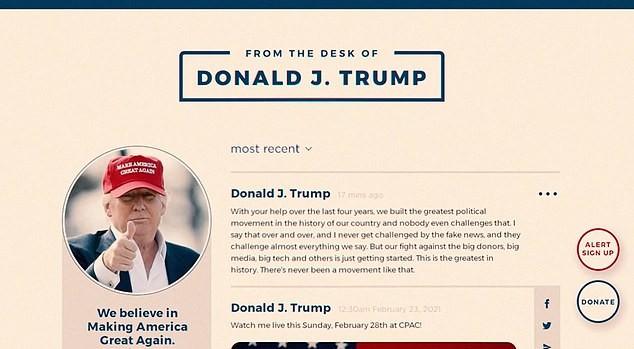 Ông Trump ra mắt MXH 'Từ bàn làm việc của Donald J. Trump' - ảnh 2
