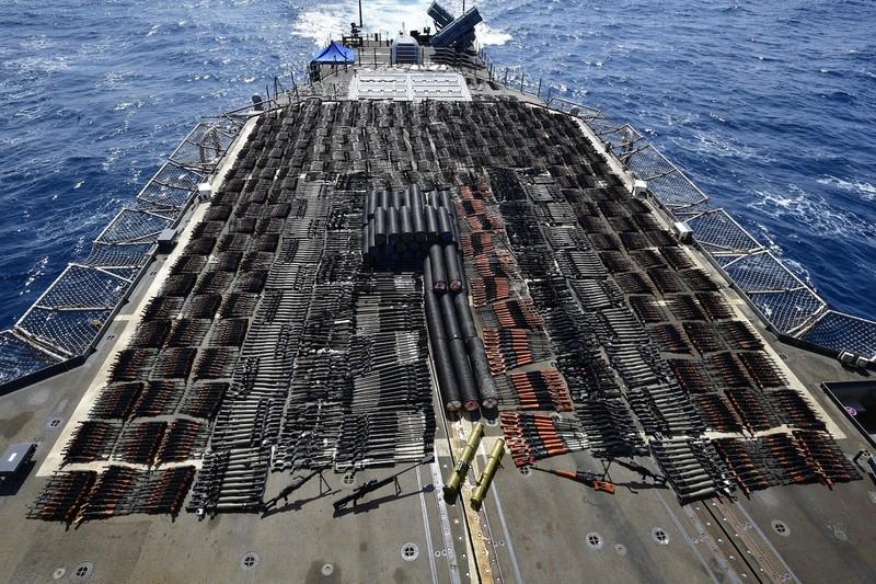 Vũ khí do Nga, Trung Quốc chế tạo bị Mỹ thu giữ ở biển Ả Rập - ảnh 1