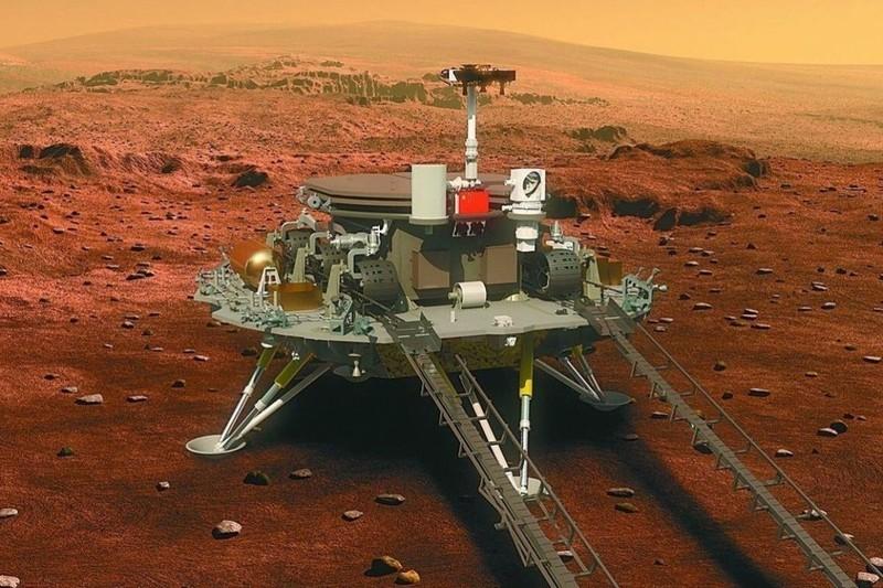 Tàu thám hiểm Trung Quốc đáp thành công lên bề mặt Sao Hỏa - ảnh 1