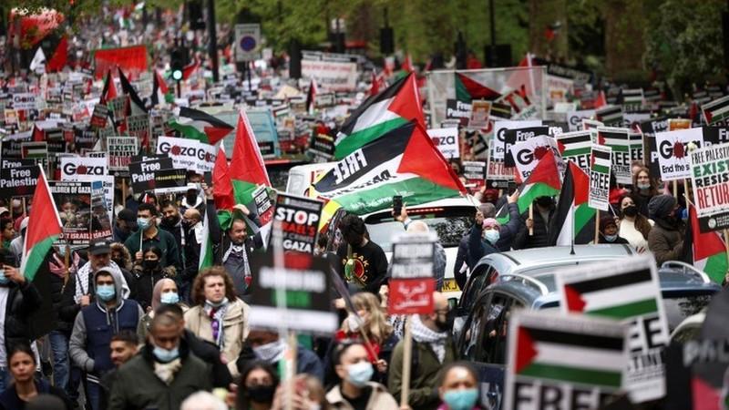 Video: Biểu tình phản đối Israel tại 65 thành phố ở Mỹ - ảnh 3