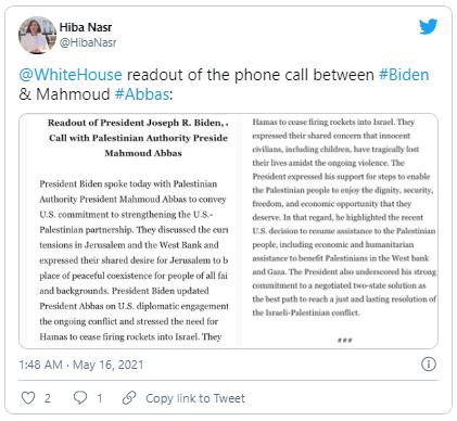 Ông Biden điện đàm với lãnh đạo Israrel và Palestine  - ảnh 1