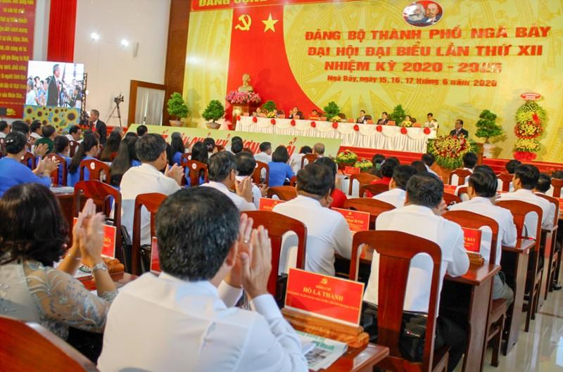 Hậu Giang: Khai mạc Đại hội Đảng bộ cấp huyện đầu tiên - ảnh 1