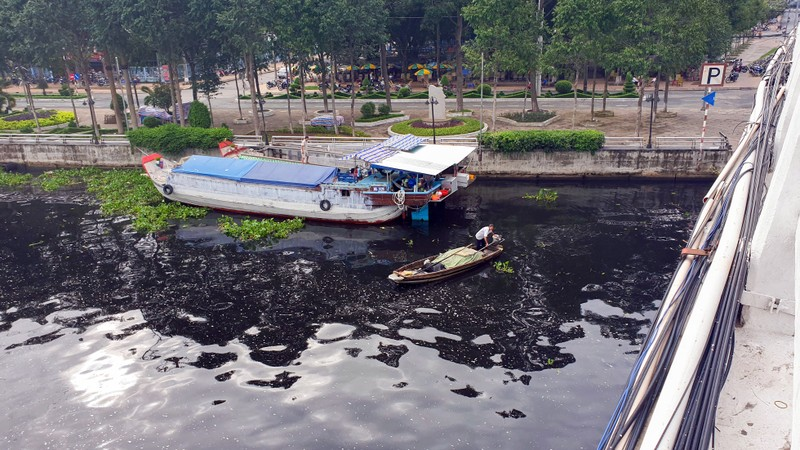Long Mỹ, Hậu Giang: Nước trên sông cái có màu đen, hôi thối - ảnh 1