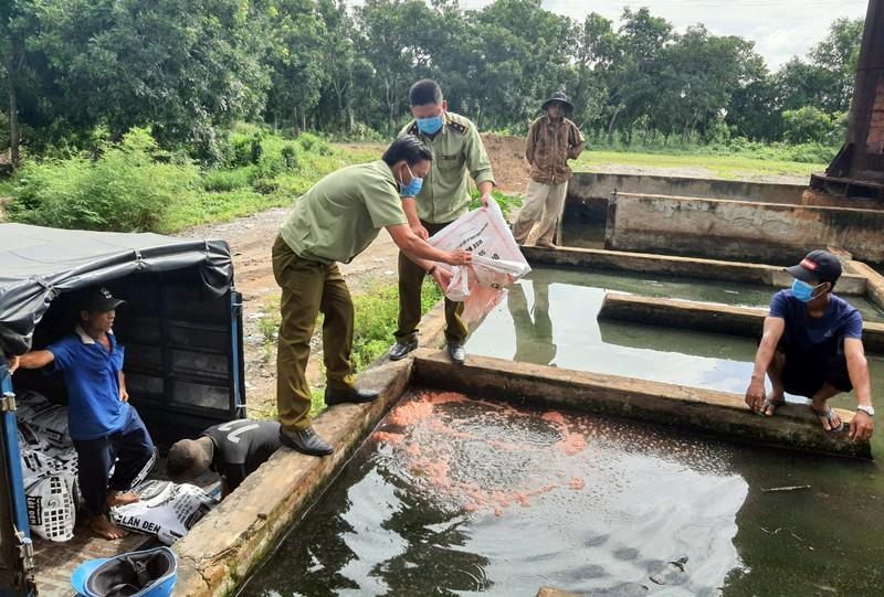 Kiên Giang tiêu hủy 3,2 tấn phân bón giả - ảnh 1