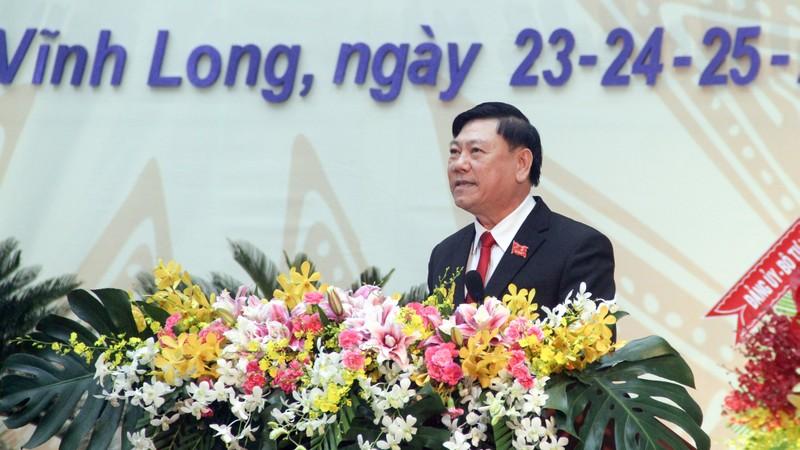Ông Trần Văn Rón tái đắc cử Bí thư Tỉnh ủy Vĩnh Long - ảnh 1